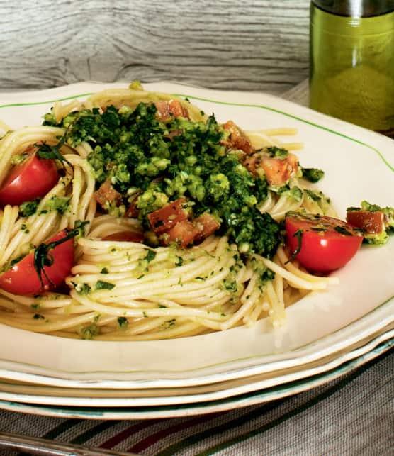 spaghettis sauce trapanese