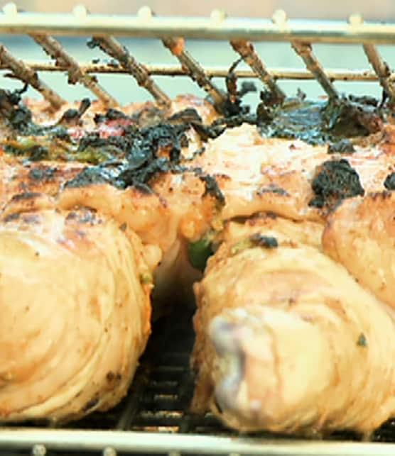 poulet barbecue à la marinade romesco