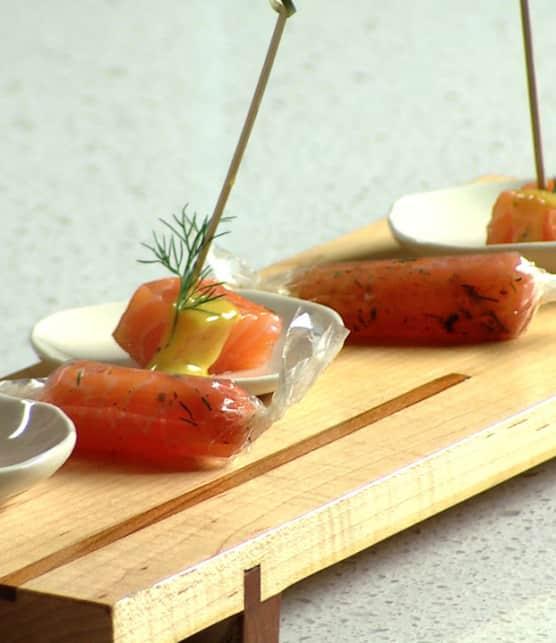 bonbons de saumon « Gravlax »