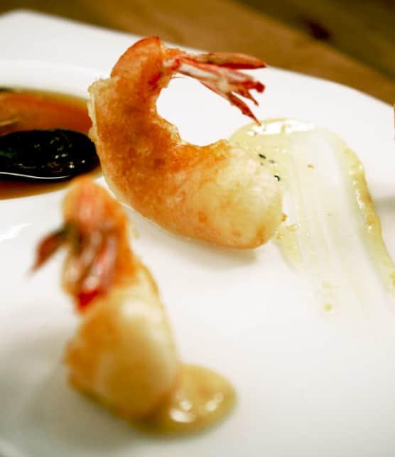 crevettes tempura à la manière de Raphaël Vézina