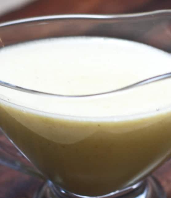 crème anglaise à la pistache