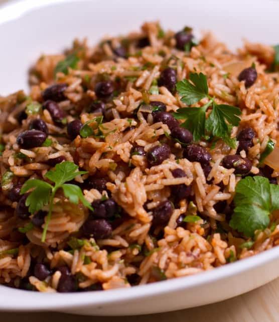 riz aux haricots noirs à la mexicaine