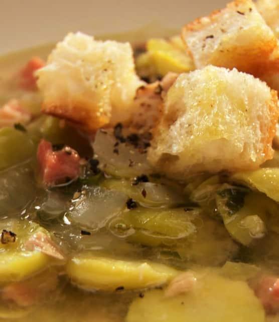 soupe aux fèves et au thon