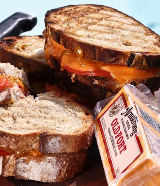 sandwich sud-africain au fromage grillé