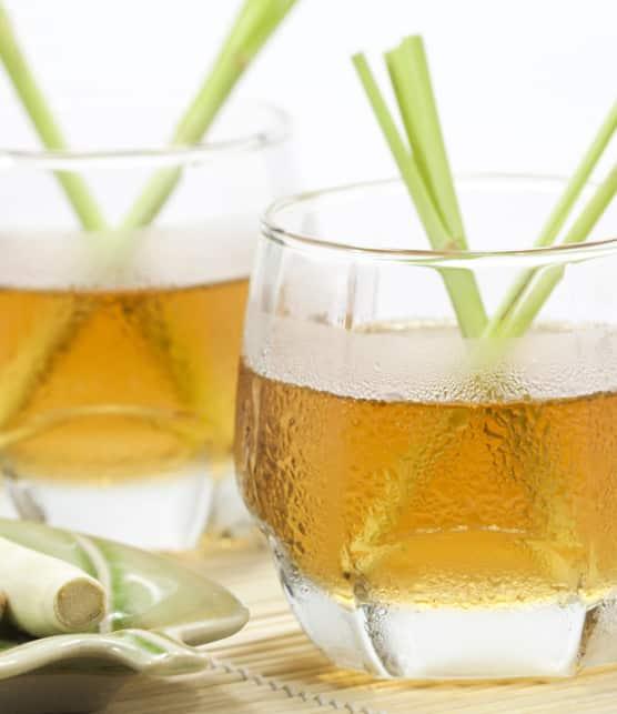 boisson glacée à la citronnelle