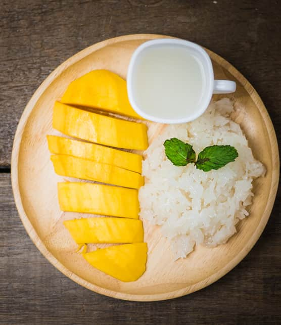 riz à la mangue et crème de coco
