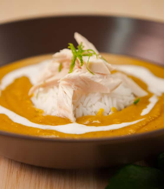 soupe aux pois cassés à l'indienne