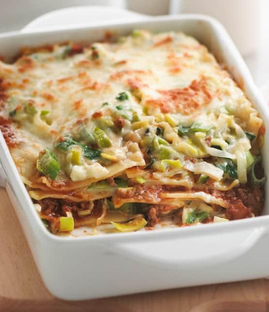 lasagne aux poireaux