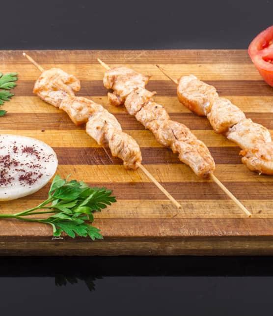 kebabs de flétan