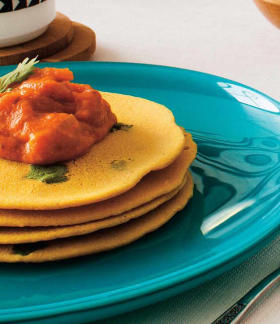 crêpes indiennes et sauce sambar