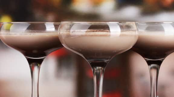 Cocktail dessert forêt-noire