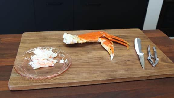 Comment décortiquer un crabe des neiges selon Sandra Gauthier