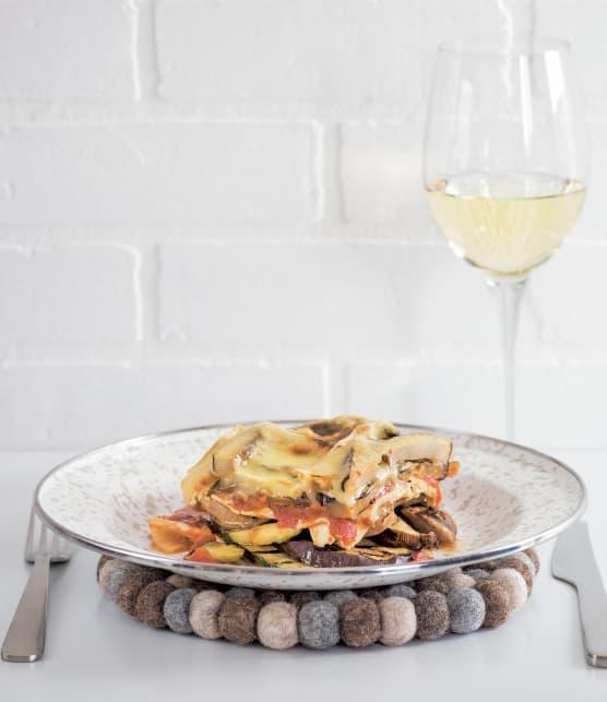 Lasagne saucisses italiennes et légumes grillés