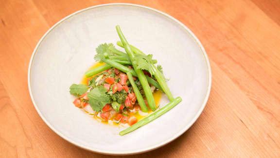 Filet d'aiglefin, sauce vierge