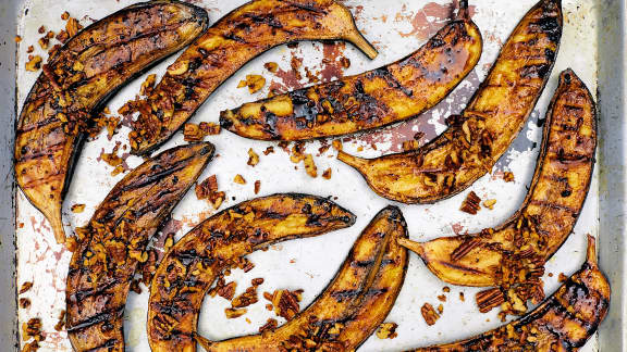 Bananes caramélisées au BBQ