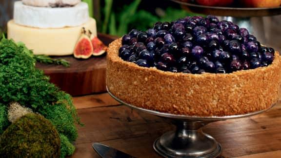 Gâteau biscuit aux amandes et bleuets