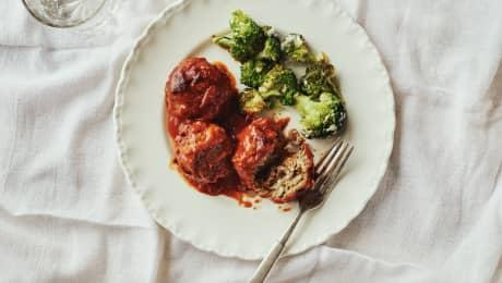 Trois fois par jour & vous - Boulettes porc-épic & brocoli au parmesan