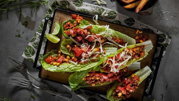 Tacos végé de laitue romaine