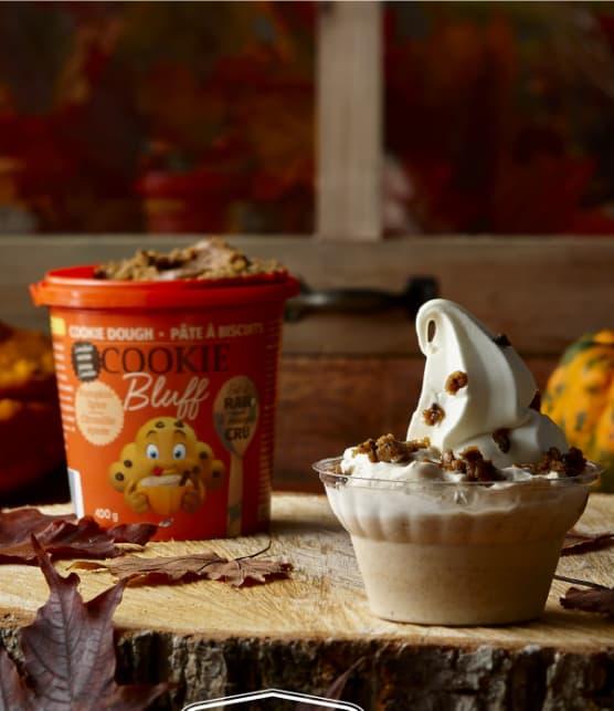 Découvrez le nouveau dessert à la citrouille épicée de Cookie Bluff et la Fromagerie Victoria!
