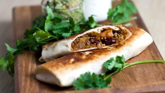 Burritos épicés au boulgour