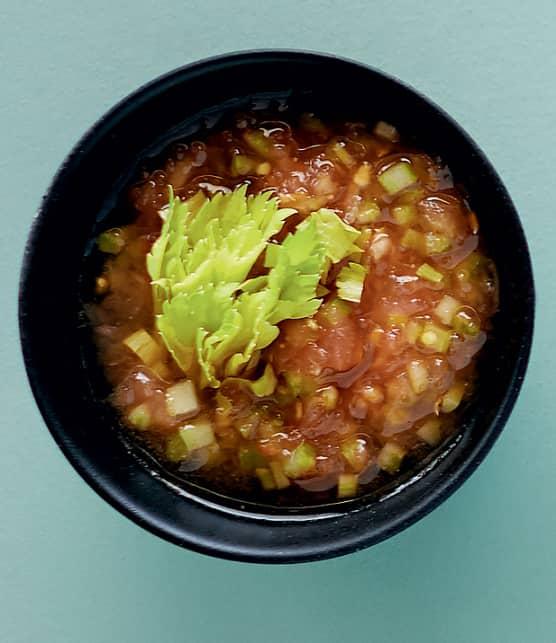 Sauce mignonette Bloody Caesar pour huîtres