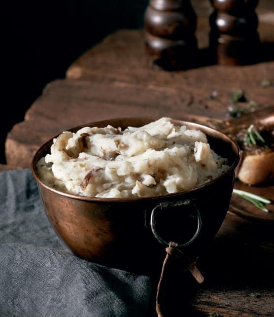 Purée de topinambours et pommes de terre
