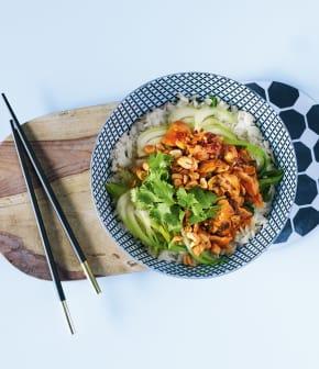 Stir-fry de bok choy au gingembre et poulet