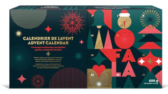 Un calendrier de l'Avent pour déguster des fromages québécois tout le mois de décembre!