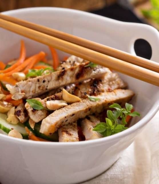 Salade asiatique de poulet