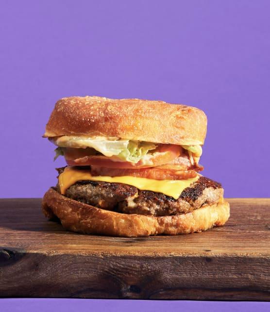 Burger dans un beigne