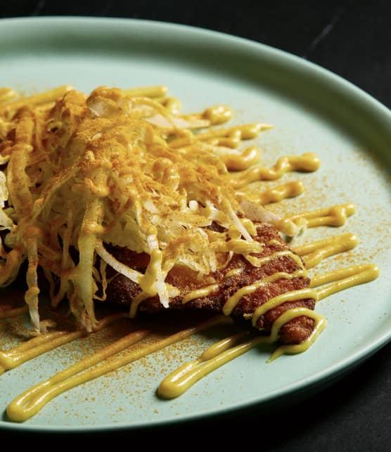 Schnitzel de poulet façon currywurst