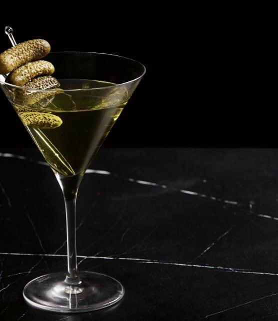 Dirty martini à la saumure de cornichons