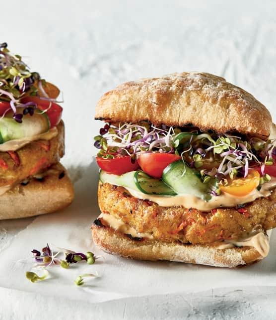 Hamburgerde luxe au tofu