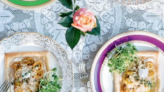 Tartelettes à la tombée de poireaux