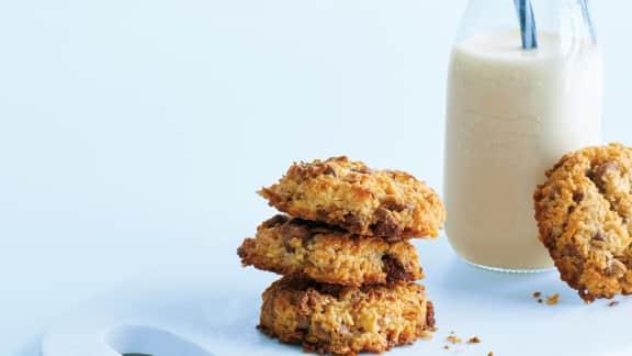 Biscuits à la noix de coco, au chocolat et aux pacanes