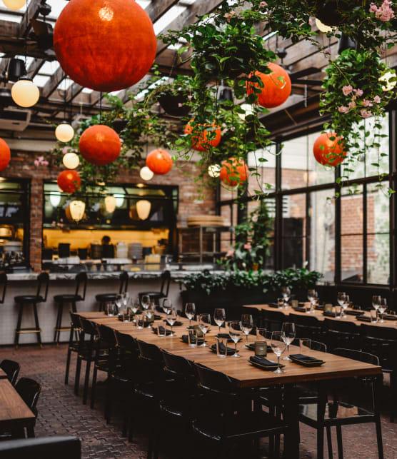 Découvrez les terrasses intérieures des restaurants de Montréal