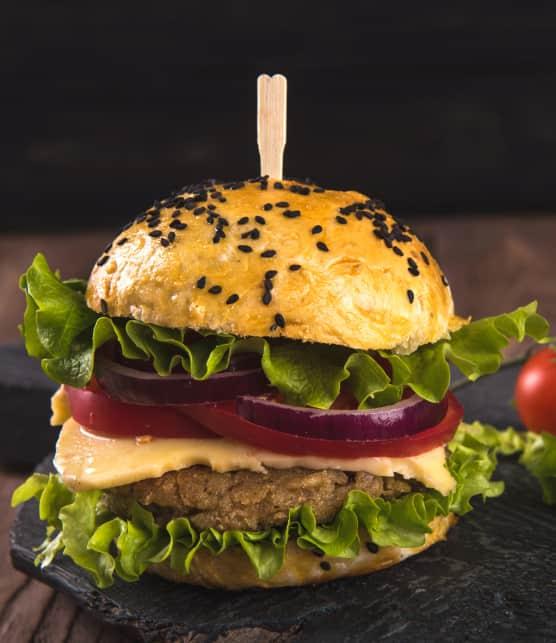 Végé-burger aux légumineuses