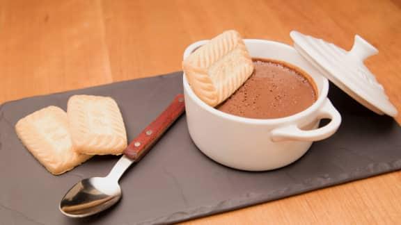 Pouding au chocolat noir et au tofu soyeux