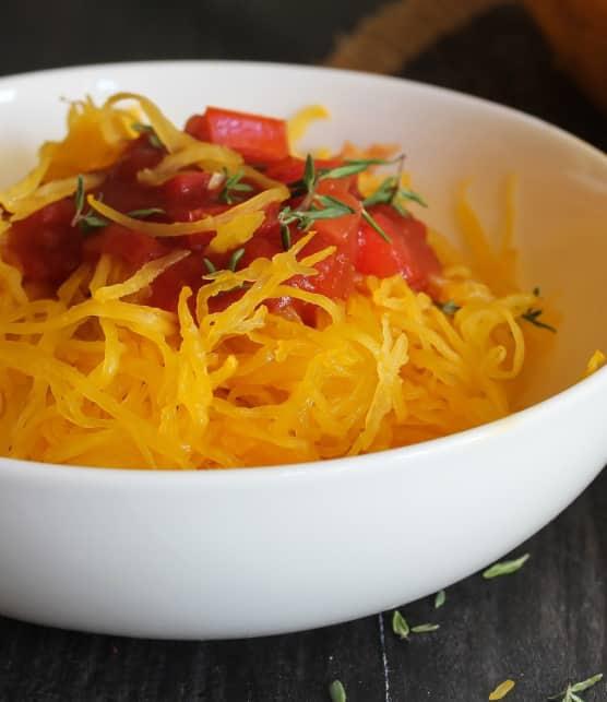 Spaghettis de courge braisée