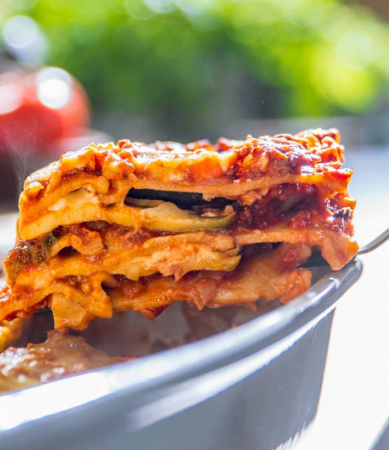Lasagne bolognaise aux courgettes