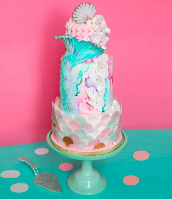 Comment confectionner un gâteau sirène
