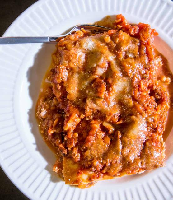 Lasagne bolognaise aux lentilles