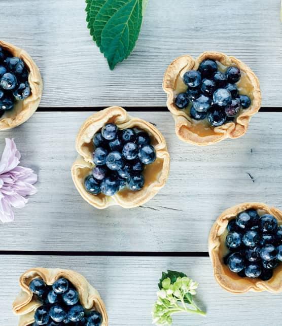 Recette de petites tartes aux bleuets et sucre à la crème