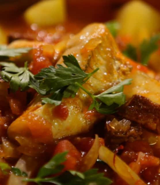 soupe de poisson au safran et au chorizo