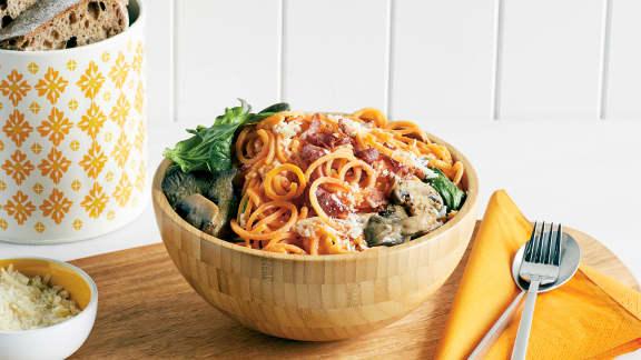 TOP : 5 recettes de spaghettis de légumes