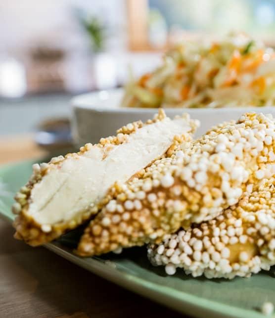 Poulet frit au quinoa soufflé