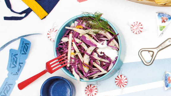 Salade de chou rouge et fenouil