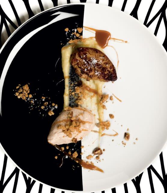 croustade aux pommes revisitée avec foie gras poêlé
