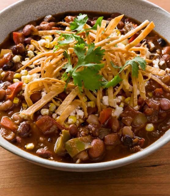 chili végétarien à partager