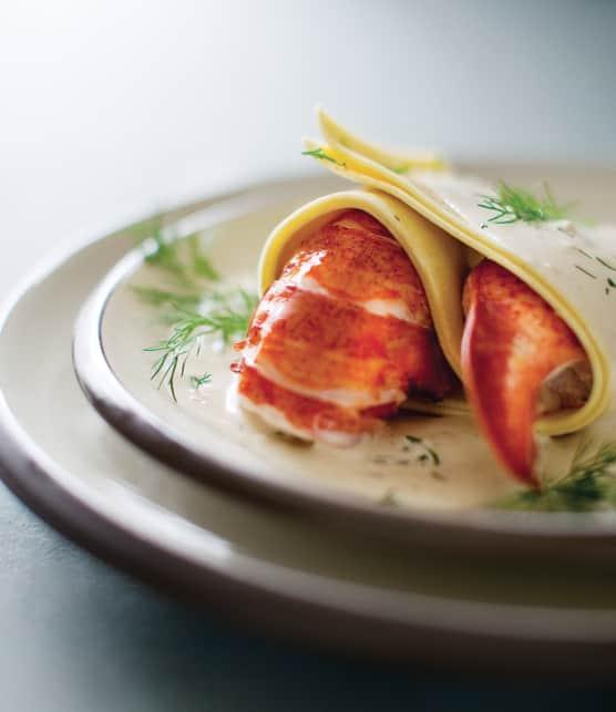 lasagne ouverte au homard et sa crème d'aneth